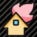 fire, house