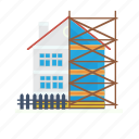 architect, building, construction, fence, frame, house, wood icon