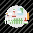 architect, brush, building, color, construction, fence, paint icon