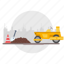 architect, barrier, building, city, construction, road, vehicle icon