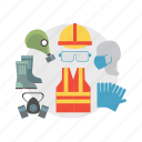 architect, building, cloth, construction, helmet, mask, safety icon