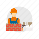 architect, bricks, bucket, builder, building, cement, construction icon