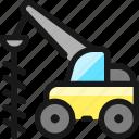 heavy, equipment, excavator