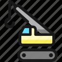 heavy, equipment, lift, hook