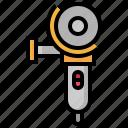 construction, employee, grinder, job, man, stick, worker