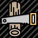 cutting, drawn, electric, electrical, hand, machine, saw icon