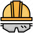 equipment, glasses, helmet, protection, safe, safety, security icon