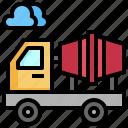 concrete, construction, mixer, tools, transportation, truck