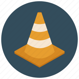 cone, construction, orange cone, pylon, road cone, traffic cone, warning icon