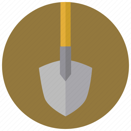 construction, digging, shovel, traffic tape icon