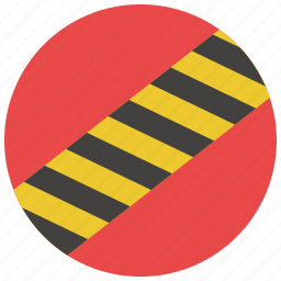 construction, construction tape, safety, striped tape, tape, warning, yellow tape icon