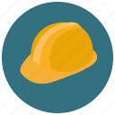 construction, hard cap, hard hat, helmet, safety cap, safety hat, skull guard icon