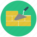 brick wall, build, construction, parge, wall, yellow brick icon