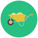 buggy, cart, concrete buggy, concrete cart, construction icon