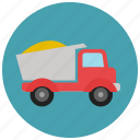 construction, heavy machine, heavy vehicle, truck icon