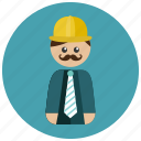 architect, construction, construction worker, engineer icon