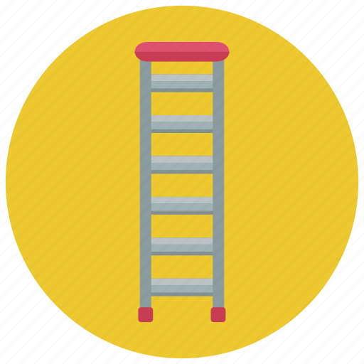 construction, ladder, rung ladder, simple ladder icon