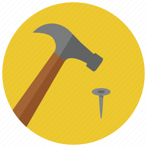 Construction, hammer, nail, tools icon - Download on Iconfinder