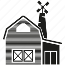 building, facade, farmhouse, farmmill, home, house, town icon