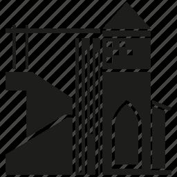 arab, building, facade, home, house, town, village icon