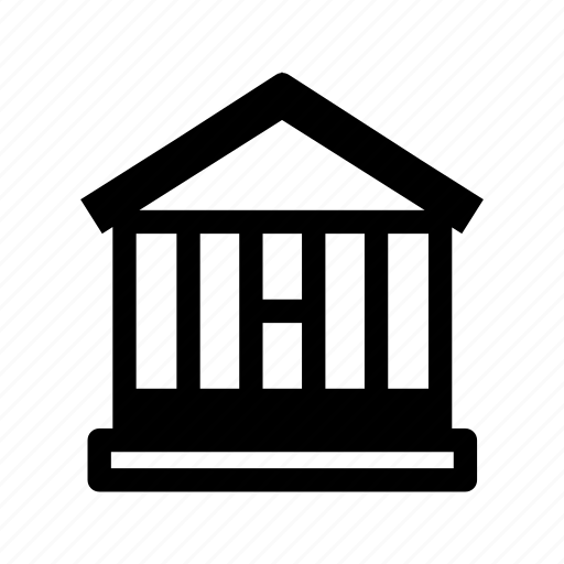 bank, building, courthouse, finance, place icon