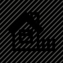 building, farm house, home, house, rural icon