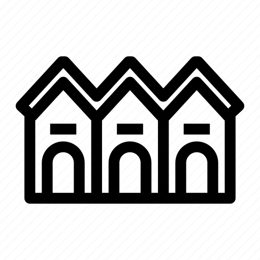 building, house, residence, residential, townhouse icon