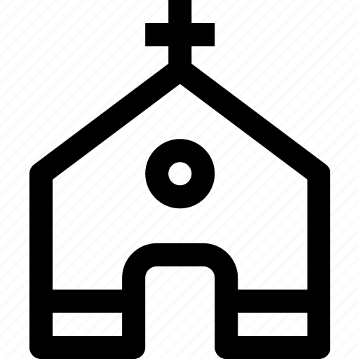 building, church, estate, property, town icon
