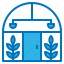 building, glass, greenhouse, house, plant icon