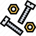 bolts, building, construction, realtor, repair, tool icon