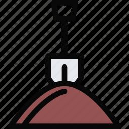building, construction, digging, realtor, repair, tool icon