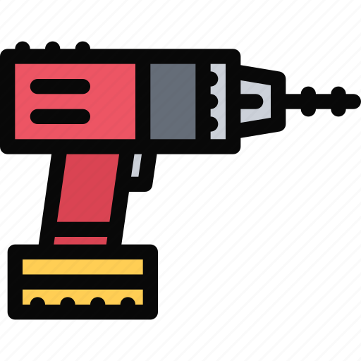 building, construction, drill, realtor, repair, tool icon