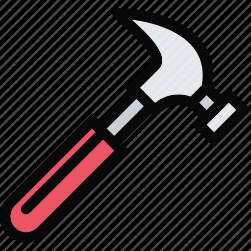 building, construction, hammer, realtor, repair, tool icon