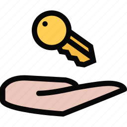 building, construction, keys, realtor, repair, tool icon