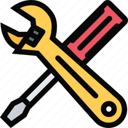 building, construction, realtor, repair, screwdriver, tool, wrench icon
