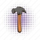 board, comic, comics, construction, dot, hammer, tool icon