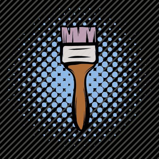 brush, comics, construction, paint, paintbrush, painter, tool icon