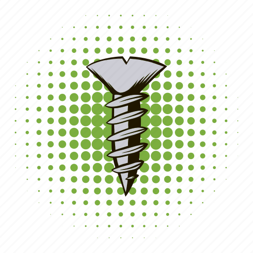 bolt, comics, metal, nail, screw, steel, tool icon