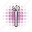 adjustable, comics, construction, spanner, tool, work, wrench icon