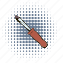 adjust, building, comics, equipment, screwdriver, service, tool icon