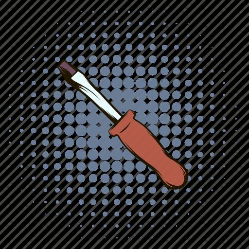 adjust, building, comics, equipment, screwdriver, service, tool icon