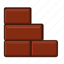 block, concrete, construction, estate, stone, wall icon