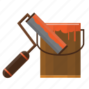 brush, building, construction, equipment, painting, tool, tools icon