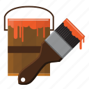 brush, build, building, construction, paint, tool, wet icon