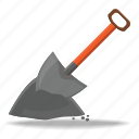 construction, dig, equipment, repair, sand, shovel, tool icon