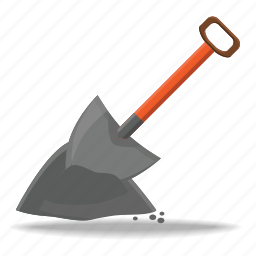 construction, dig, equipment, repair, sand, shovel, tool icon