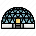ball, building, dome, space, sphere icon