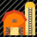 barn, building, crop, farm, farmer icon