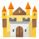 castle, king, antique, queen, palace, building icon