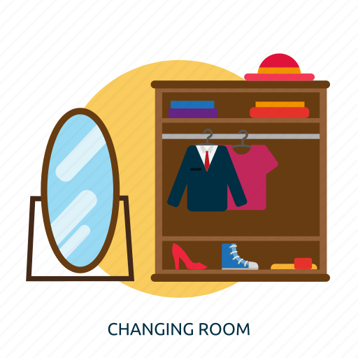building, changing, changing room, interior, room icon